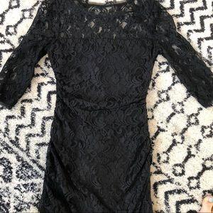 Black lace 3/4 sleeves mini